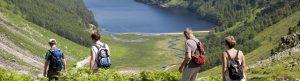 Group hiking in Glendalough