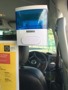 Sanistising machine in Sligo Chauffeur car